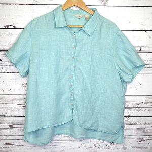 j jill | linen button up lagenlook boxy shirt